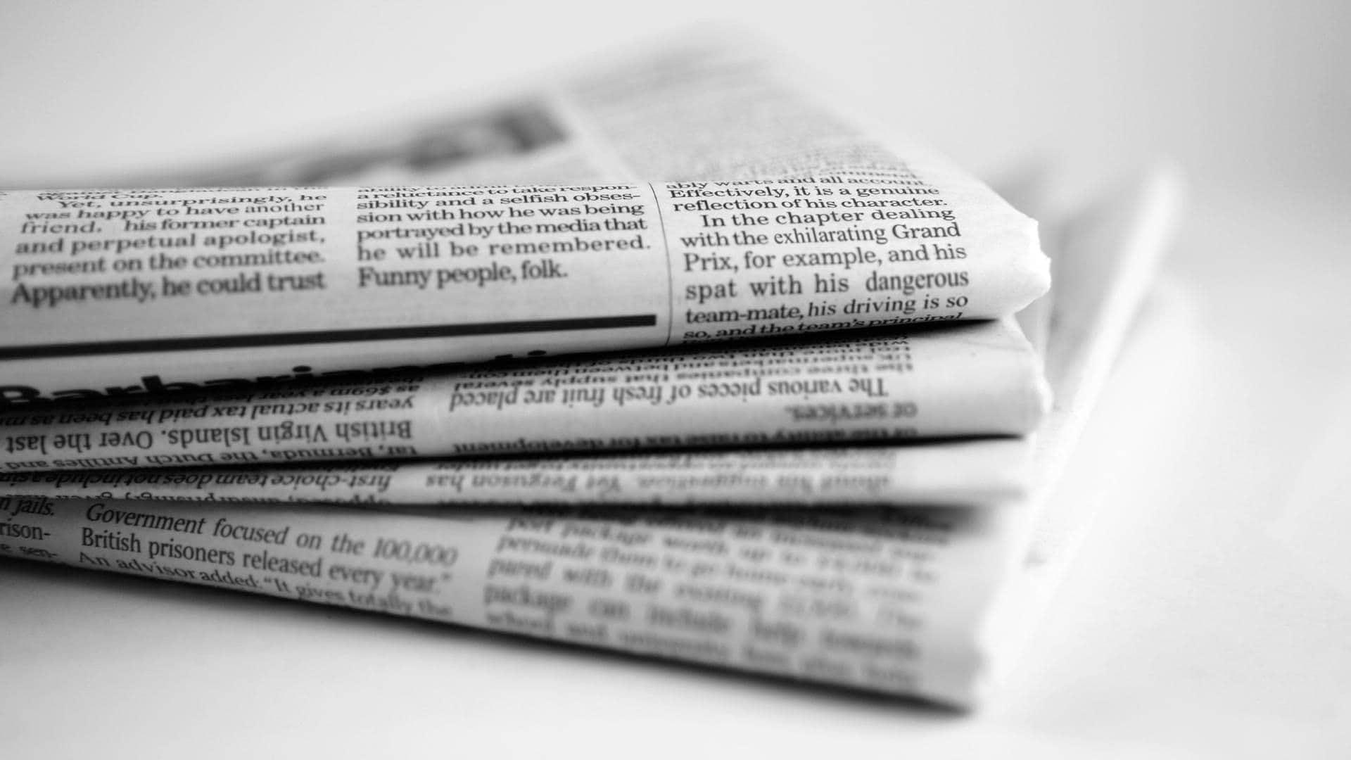 newspaper dream meaning, dream about newspaper, newspaper dream interpretation, seeing in a dream newspaper